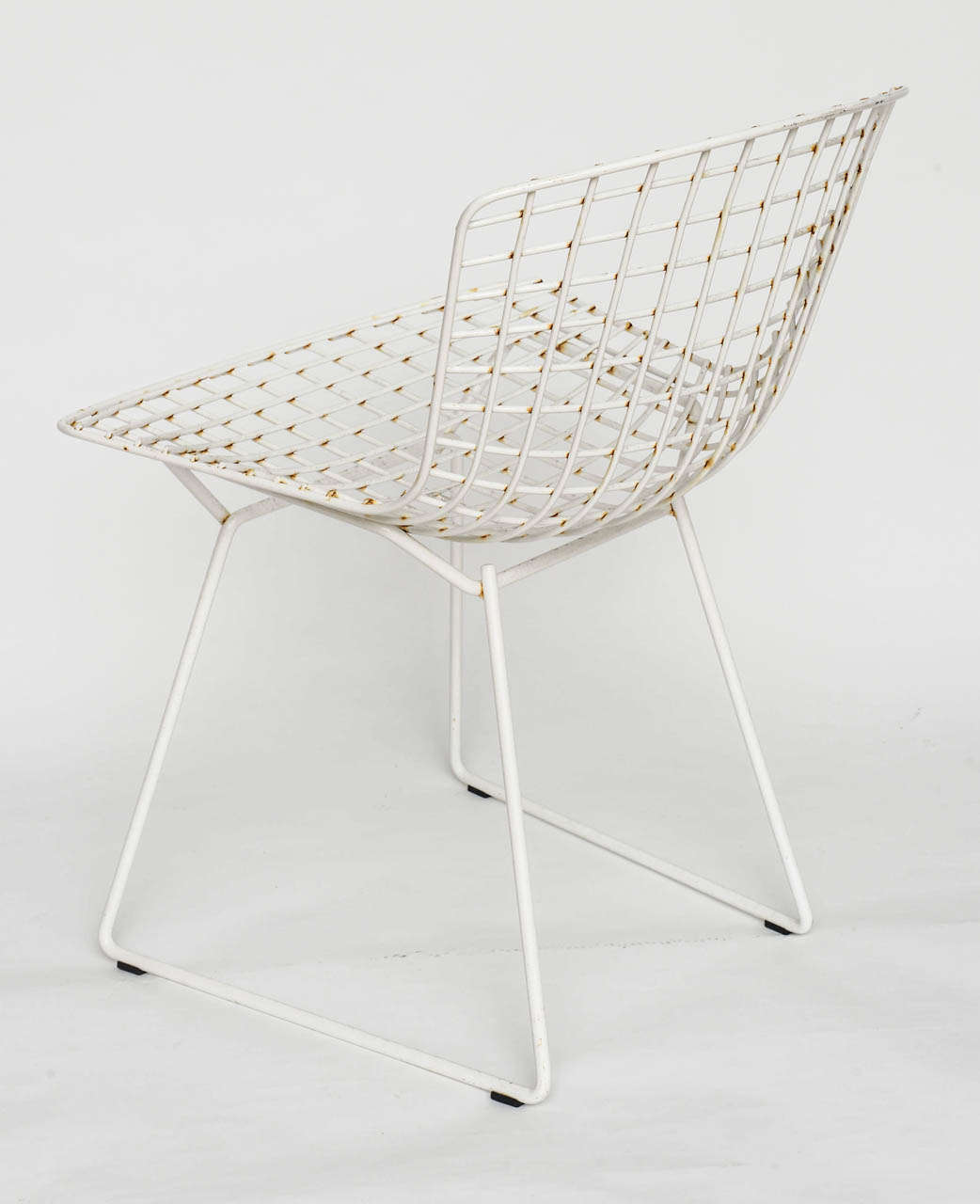 white bertoia side chair couture covers and events 6 harry chairs by knoll 1960s at 1stdibs