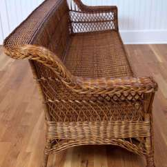 Design Of Wood Sofa Set Small Sofas For Cottages Uk Antique Bar Harbor Wicker At 1stdibs