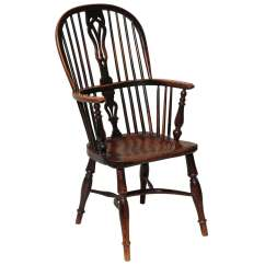 Windsor Chair With Arms Country Style Wingback Chairs English Yew Wood Hoop Back Armchair For Sale At 1stdibs