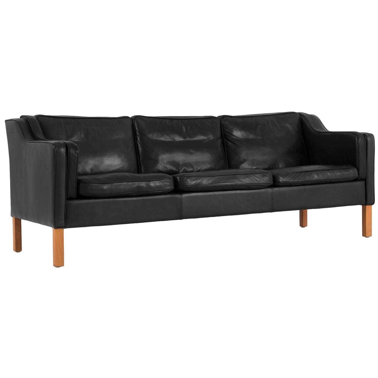 borge mogensen sofa model 2209 black leather sleeper danish for sale at 1stdibs