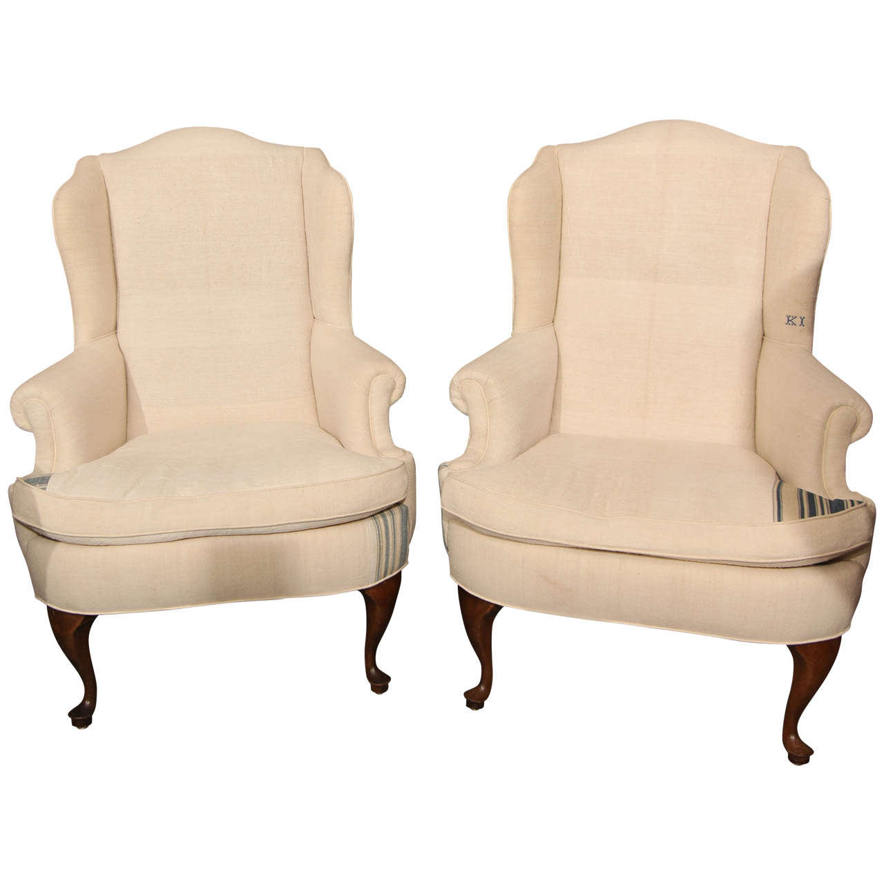 arm chairs for sale pool chair accessories pair of linen rolled armchairs at 1stdibs