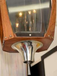 Mid Century Walnut and Smoked Acrylic Lantern For Sale at ...
