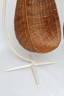 Hanging Wicker Egg Chair 1stdibs