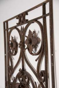 18th Century Hand-Wrought Iron Decorative Piece at 1stdibs