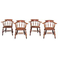 Captain Chairs Dining Room Fake Eames Chair Set Of 6 English 39s Circa 1860 At 1stdibs