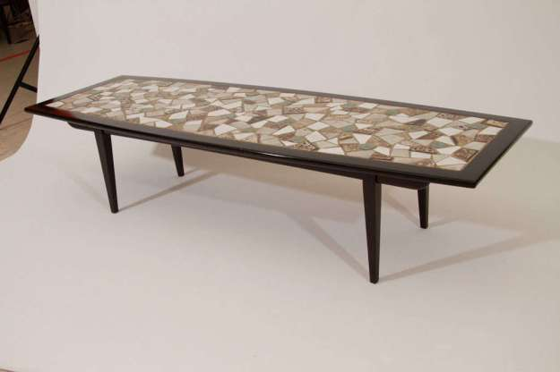mosaic tile top coffee table at 1stdibs