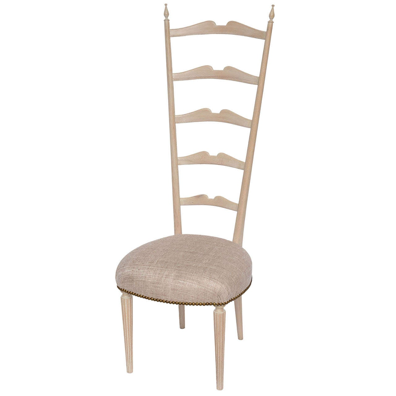 tall desk chairs with backs horse rocking chair plans 50 39s italian ladder back for sale at 1stdibs