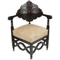 Antique Carved Corner Chair at 1stdibs