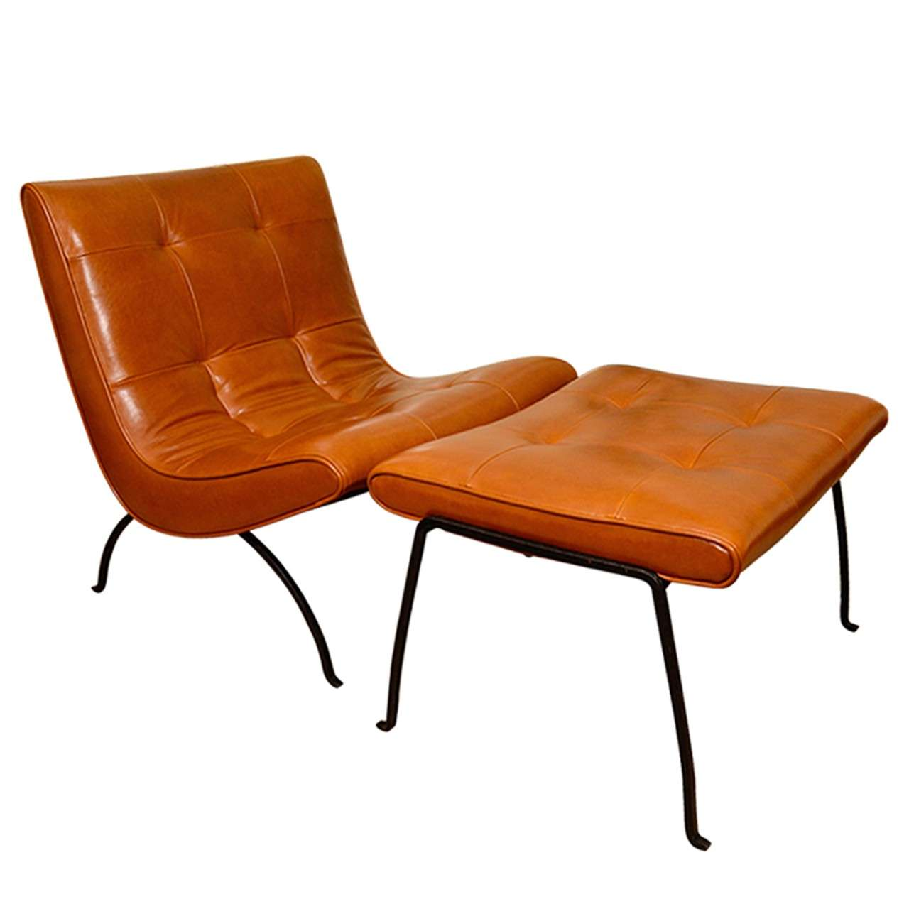 modern slipper chair medline transport parts milo baughman chairs and ottoman at 1stdibs for sale