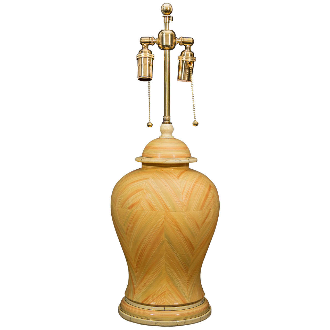 Ceramic Ginger Jar Shaped Lamp At 1stdibs