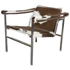 Le Corbusier Chair Luxury Christmas Covers Midcentury Sling Newly Reupholstered In Hide At For Sale