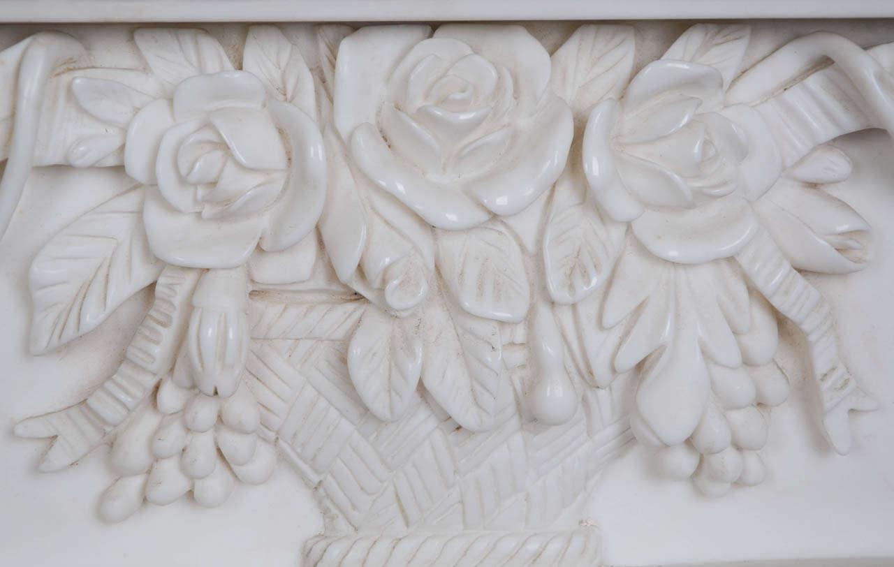 Reclaimed Ornate Carved Greek Revival Statuary Marble
