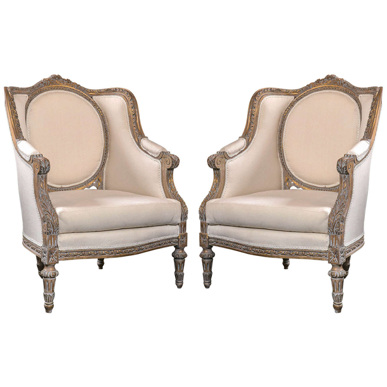 french bergere chair indoor lounge pair of vintage louis xvi style chairs at