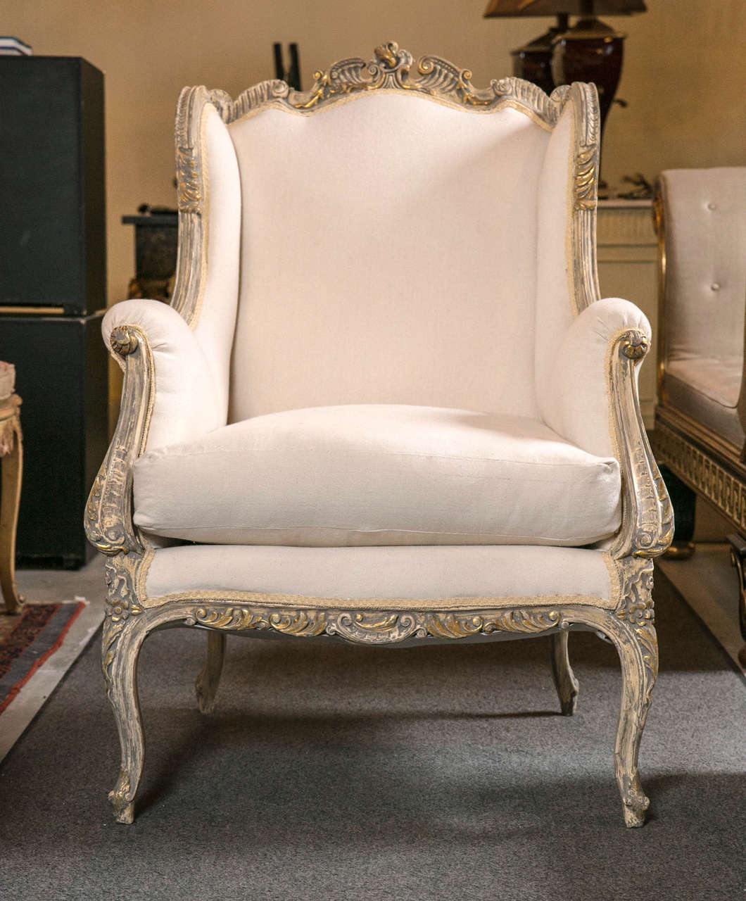 bergere chairs wedding chair covers for rent pair of french rococo style wingback bergère at 1stdibs