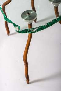 """Danny Lane Etruscan"""" glass and steel chair, England 1988 ..."""