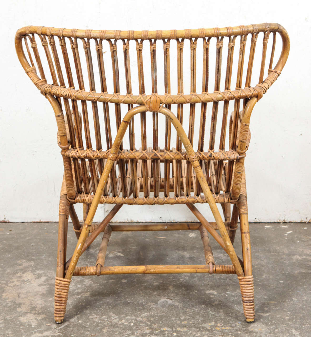 rattan wingback chairs hanging room chair vintage european at 1stdibs for sale 2