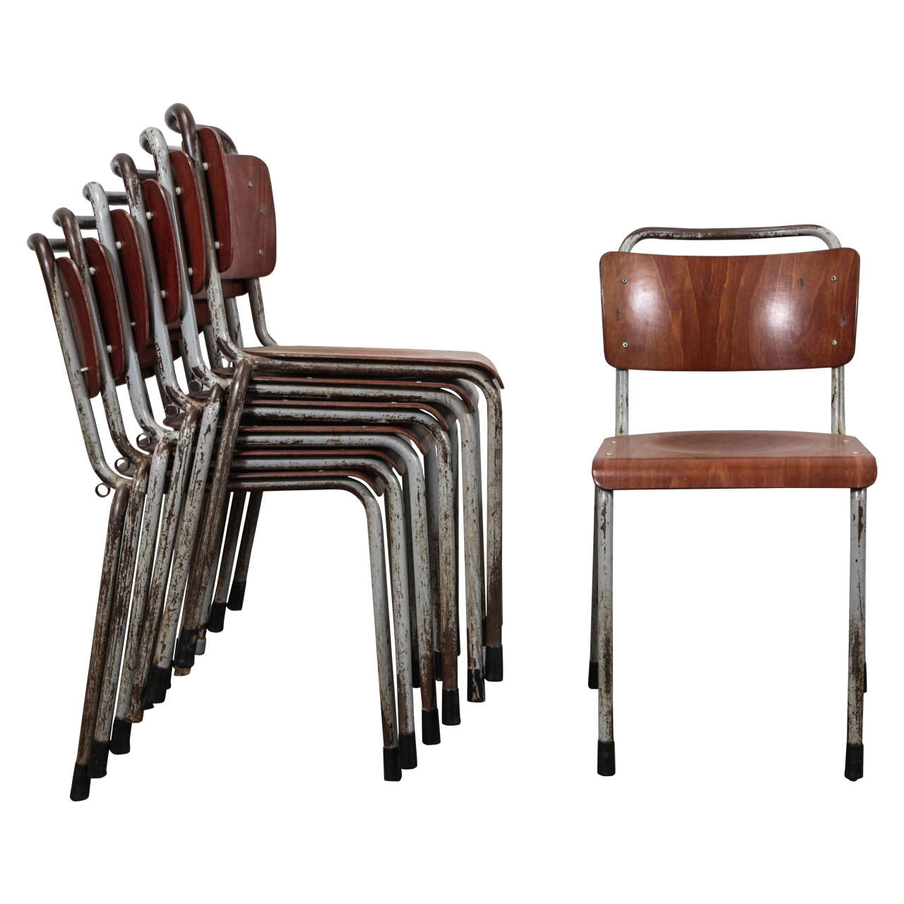 Vintage School Chairs Vintage French School Chairs Ten Available