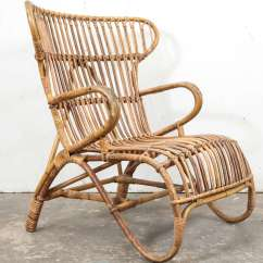 Rattan Wingback Chairs Professional Gaming Chair Vintage European At 1stdibs