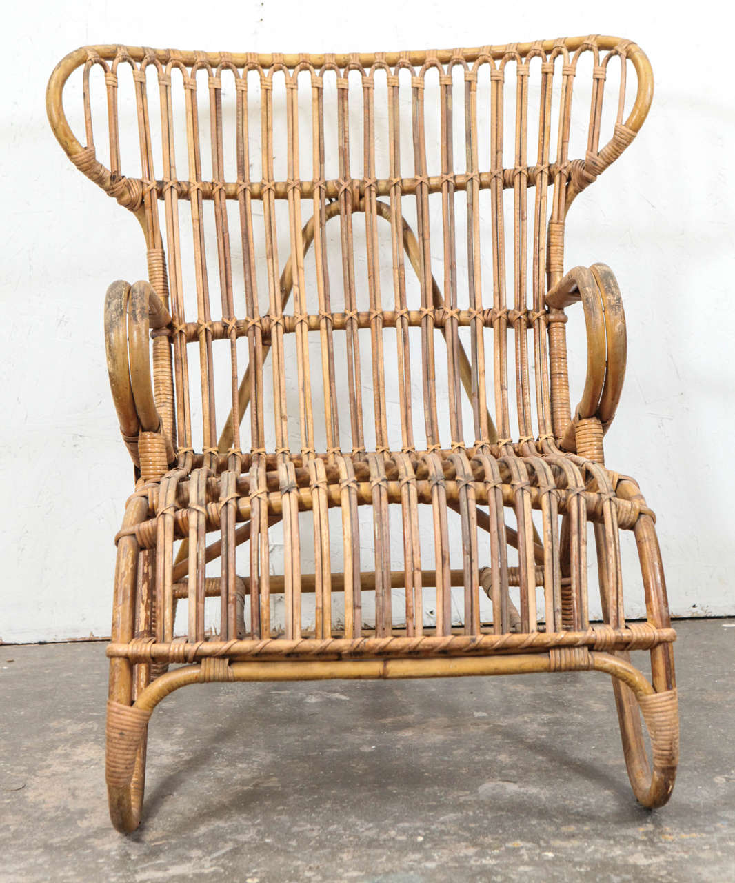 rattan wingback chairs baby boy doll high chair vintage european at 1stdibs