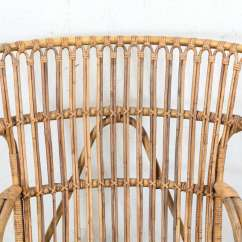 Rattan Wingback Chairs Ashley Furniture Living Room Vintage European Chair At 1stdibs