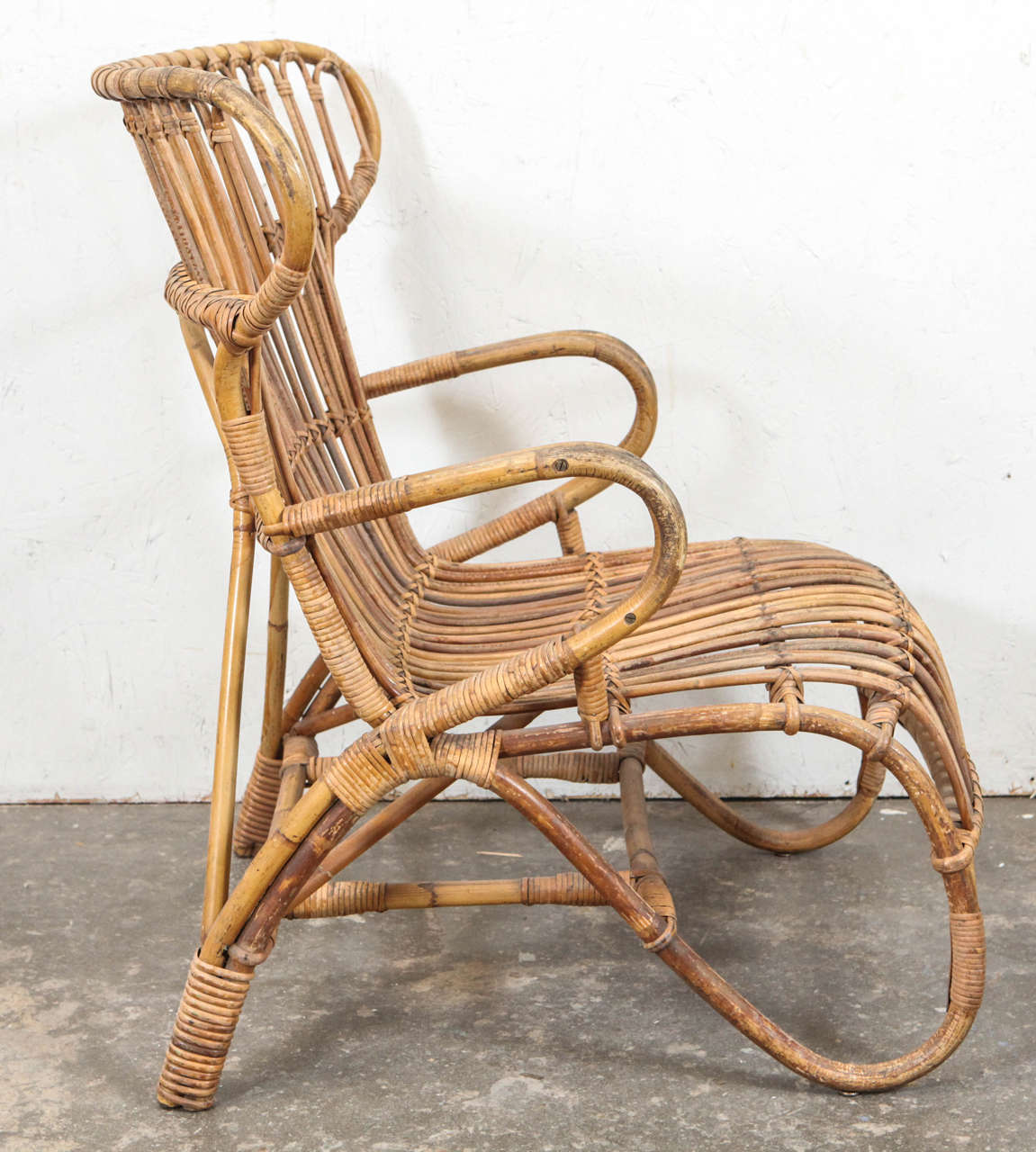 rattan wingback chairs maloof chair for sale vintage european at 1stdibs