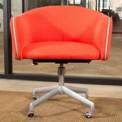 Red Office Chair No Wheels Bistro Chairs For Sale Alexander Girard Swivel At 1stdibs