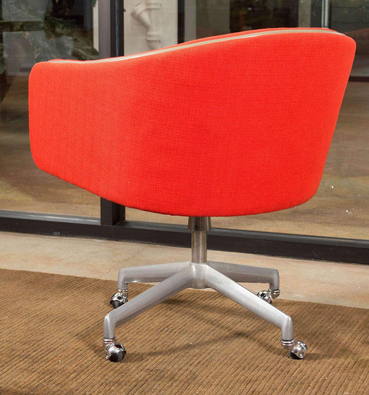 red desk chair no wheels children s beach with umbrella shoulder straps alexander girard swivel office for sale at 1stdibs