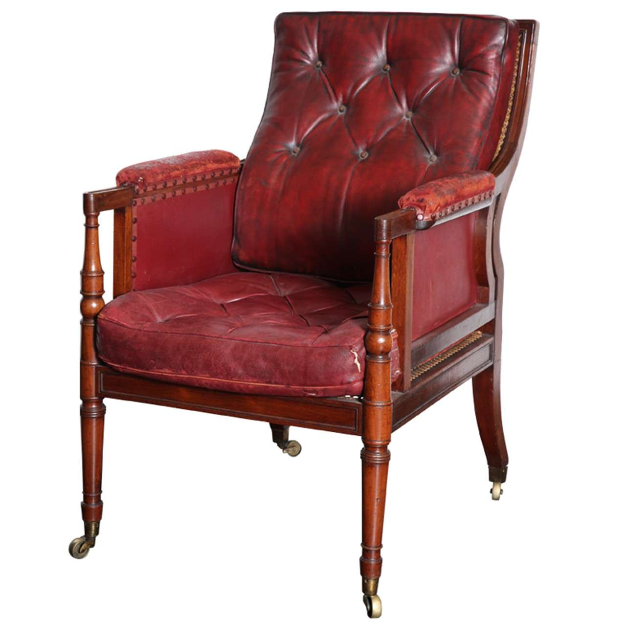 arm chairs for sale power chair lift english regency library armchair at 1stdibs
