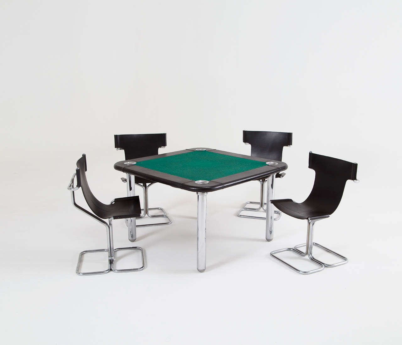card table and chairs glider or rocking chair for baby chrome leather game sale at