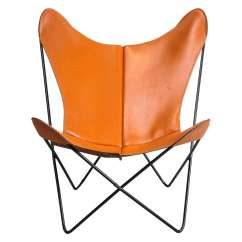 Butterfly Lounge Chair How To Cover Office With Fabric Mid Century Hardoy In Leather At 1stdibs