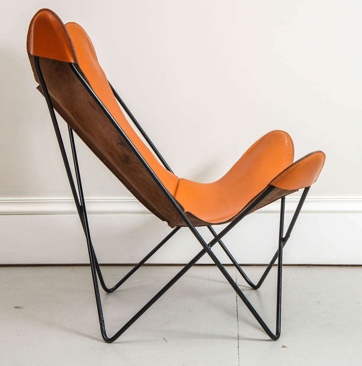 airborne butterfly chair plastic adirondack chairs and tables mid century hardoy in leather at 1stdibs