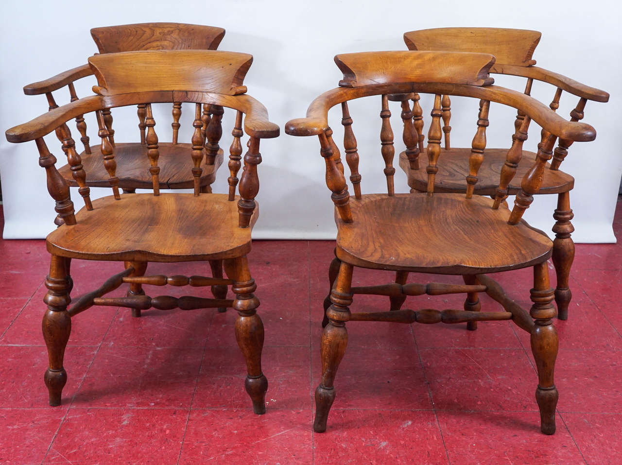 captain chairs dining room big bamboo circle chair set of eight english 39s at 1stdibs