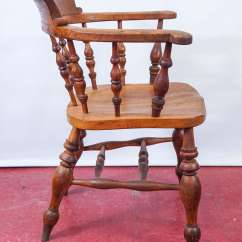 Captains Chair Child Sized Table And Chairs Set Of Eight English Captain 39s At 1stdibs