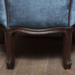 French Canopy Chair Upholstered Modern Dining Chairs Blue Velvet At 1stdibs