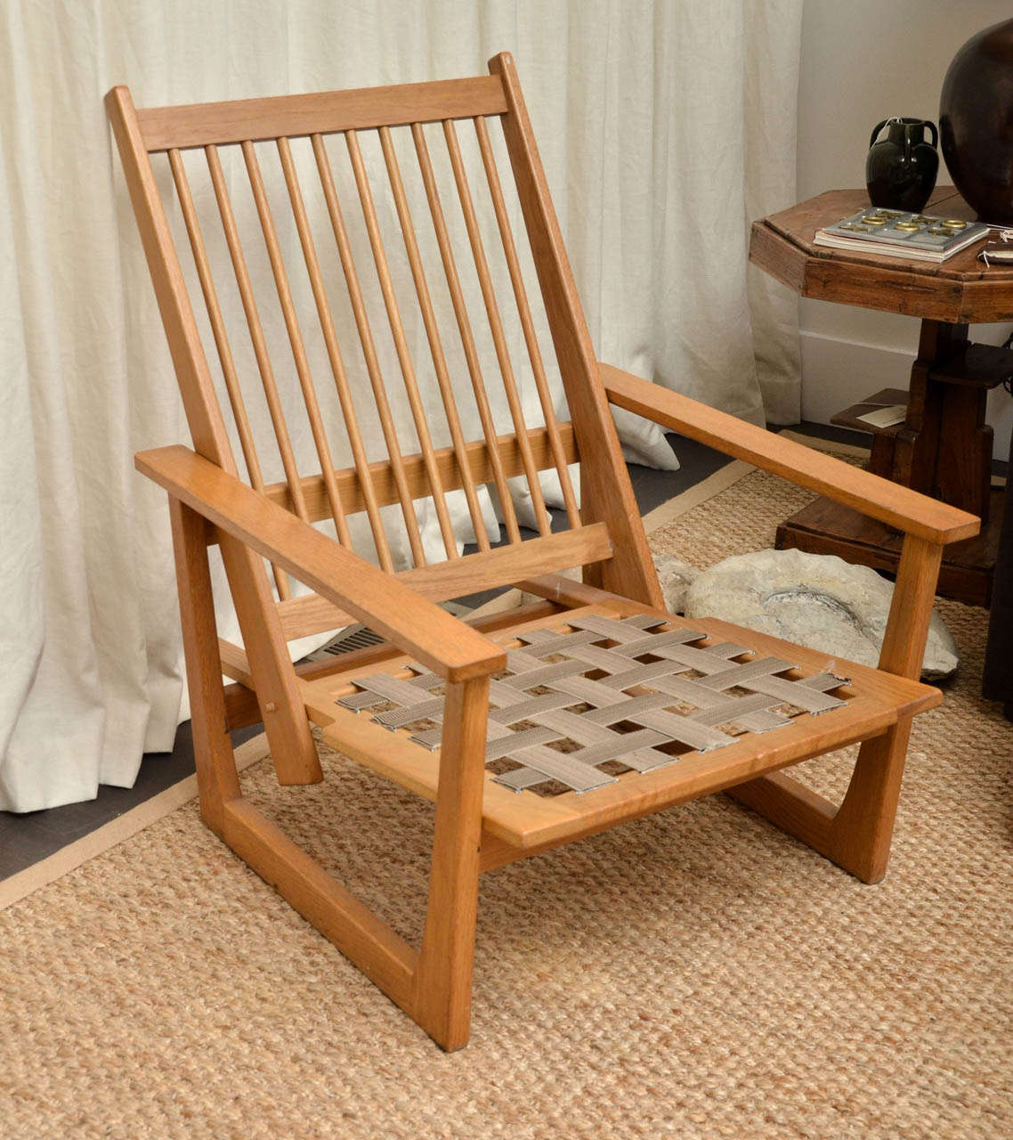 wooden lounge chairs plastic resin adirondack reclining chair at 1stdibs