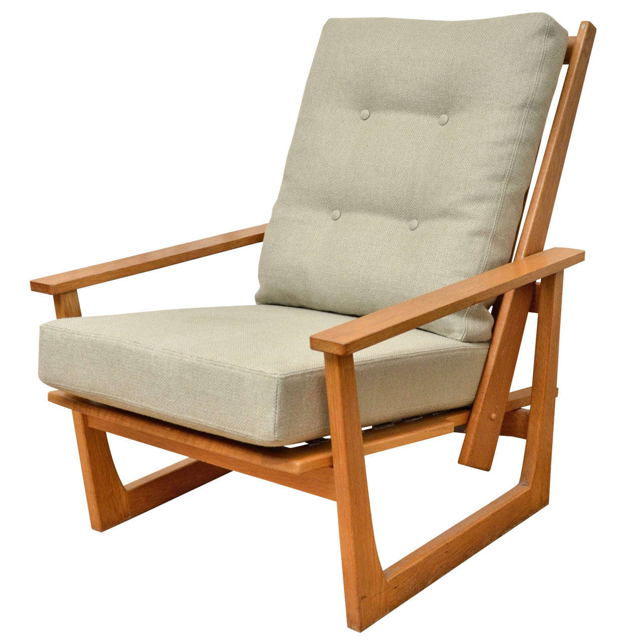 Reclining Lounge Chair Reclining Wooden Lounge Chair At 1stdibs