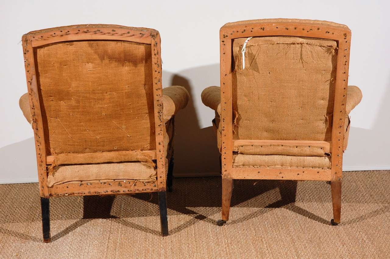 Burlap Chairs Antique French Chairs Original Burlap And Horsehair At