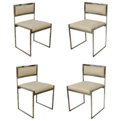 Set Of Six Dining Chairs For Sale Kneeling Posture Chair Ikea By Willy Rizzo 1970s At