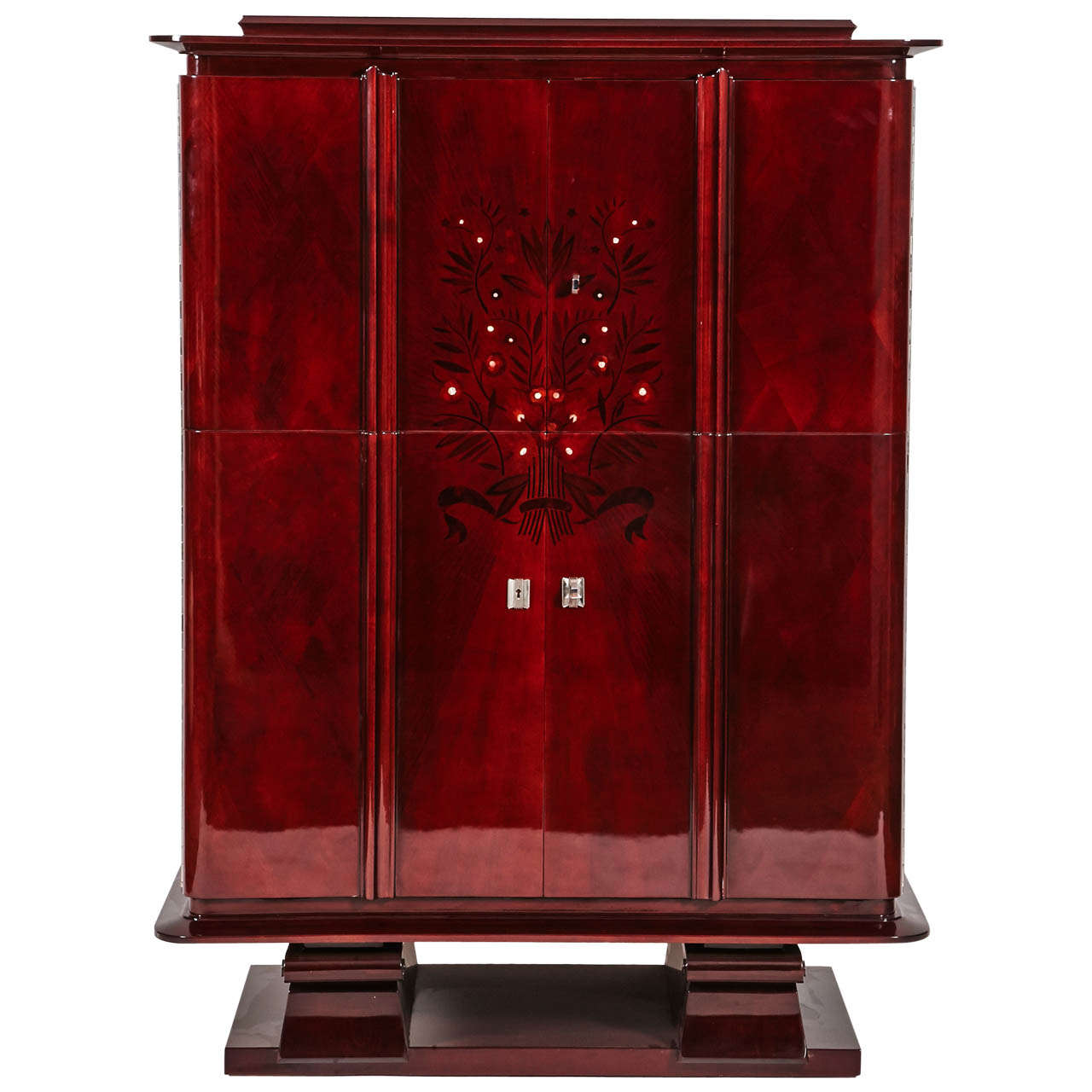 1940s Cocktail Bar Cabinet at 1stdibs