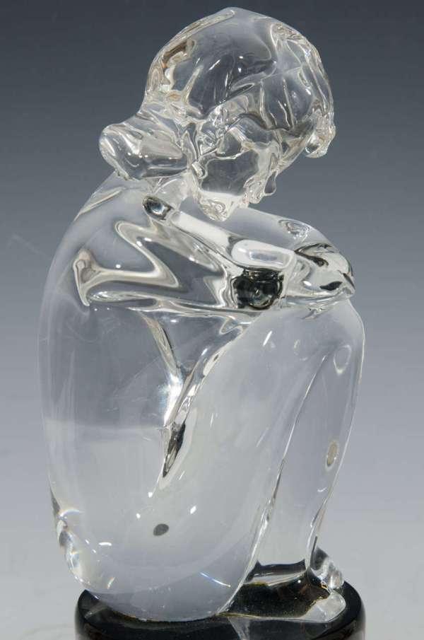 Seated Glass Sculpture Of Girl Loredano Rosin 1stdibs