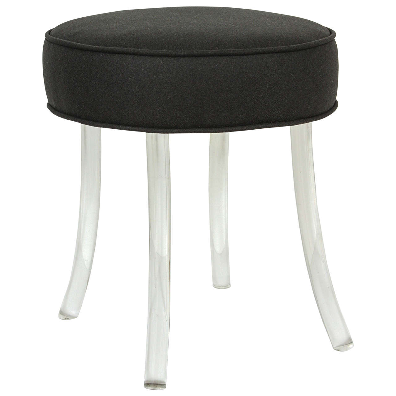 Upholstered Vanity Chair Upholstered William Haines Vanity Stool With Lucite Legs