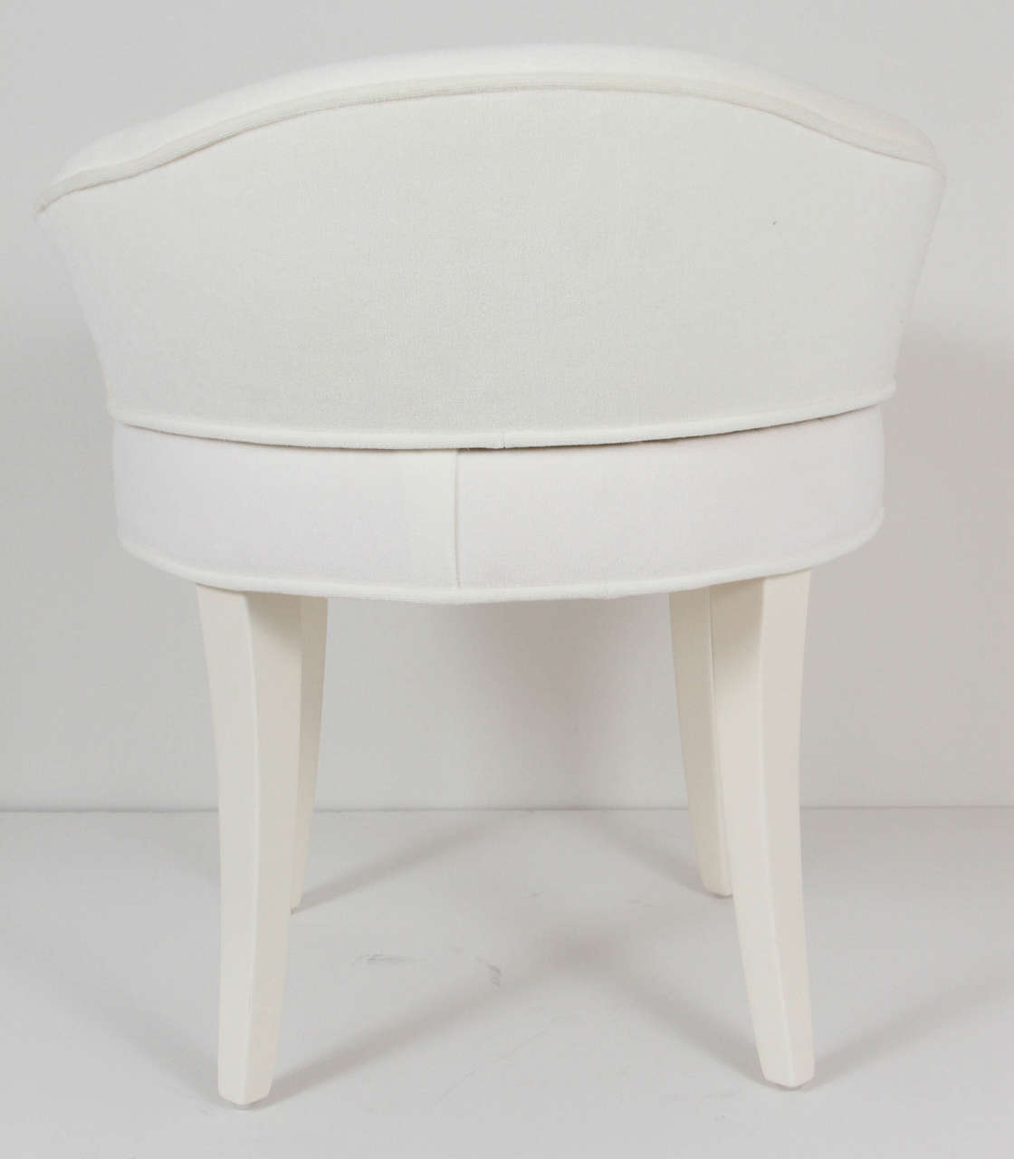 Upholstered Vanity Chair Samuel Marx Upholstered Vanity Stool At 1stdibs