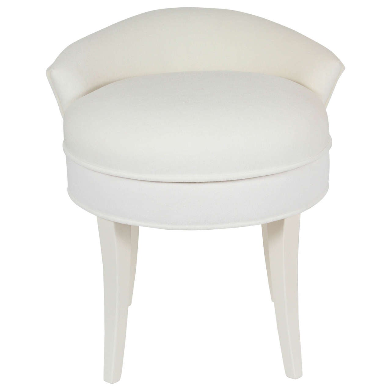 Modern Vanity Chair Samuel Marx Upholstered Vanity Stool At 1stdibs