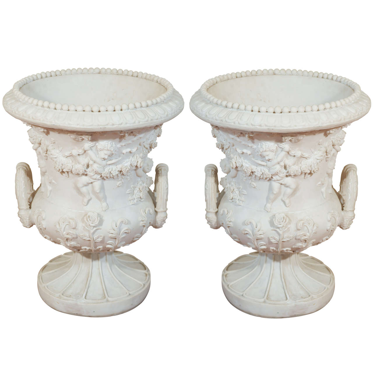 Louis Xv Style Ornate Resin Urns At 1stdibs