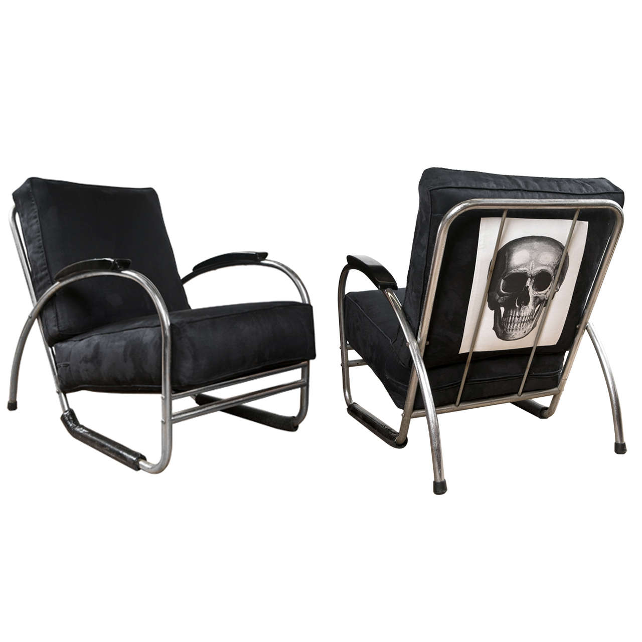 bauhaus swivel chair youth folding pair of style royal chrome club chairs at 1stdibs