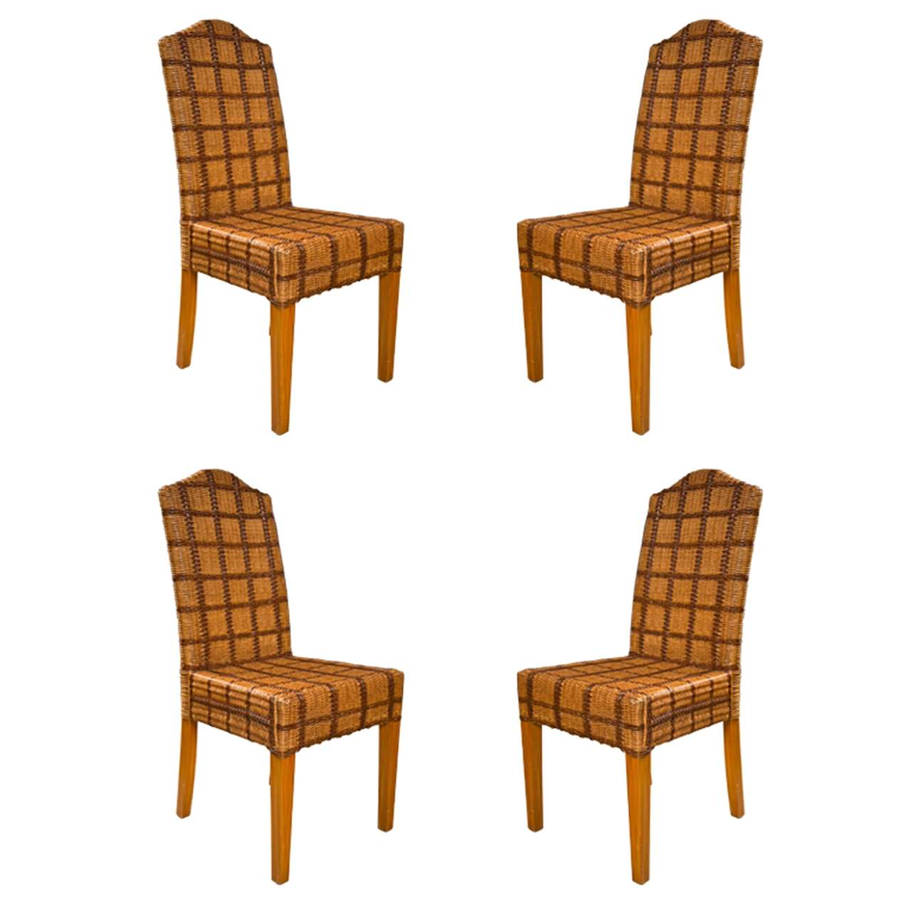 wicker chairs for sale u shaped chair cover set of four side by palelek tweed decorated