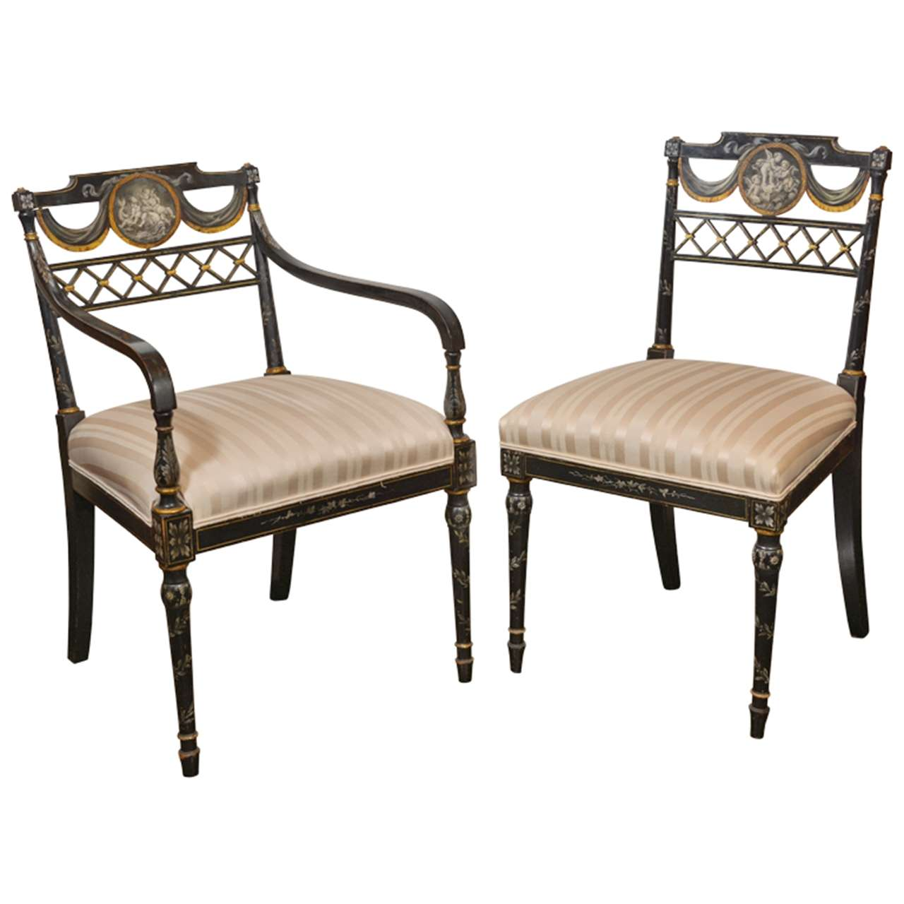 Black Chairs For Sale Set Of Important Regency Period Black Lacquered Chairs For