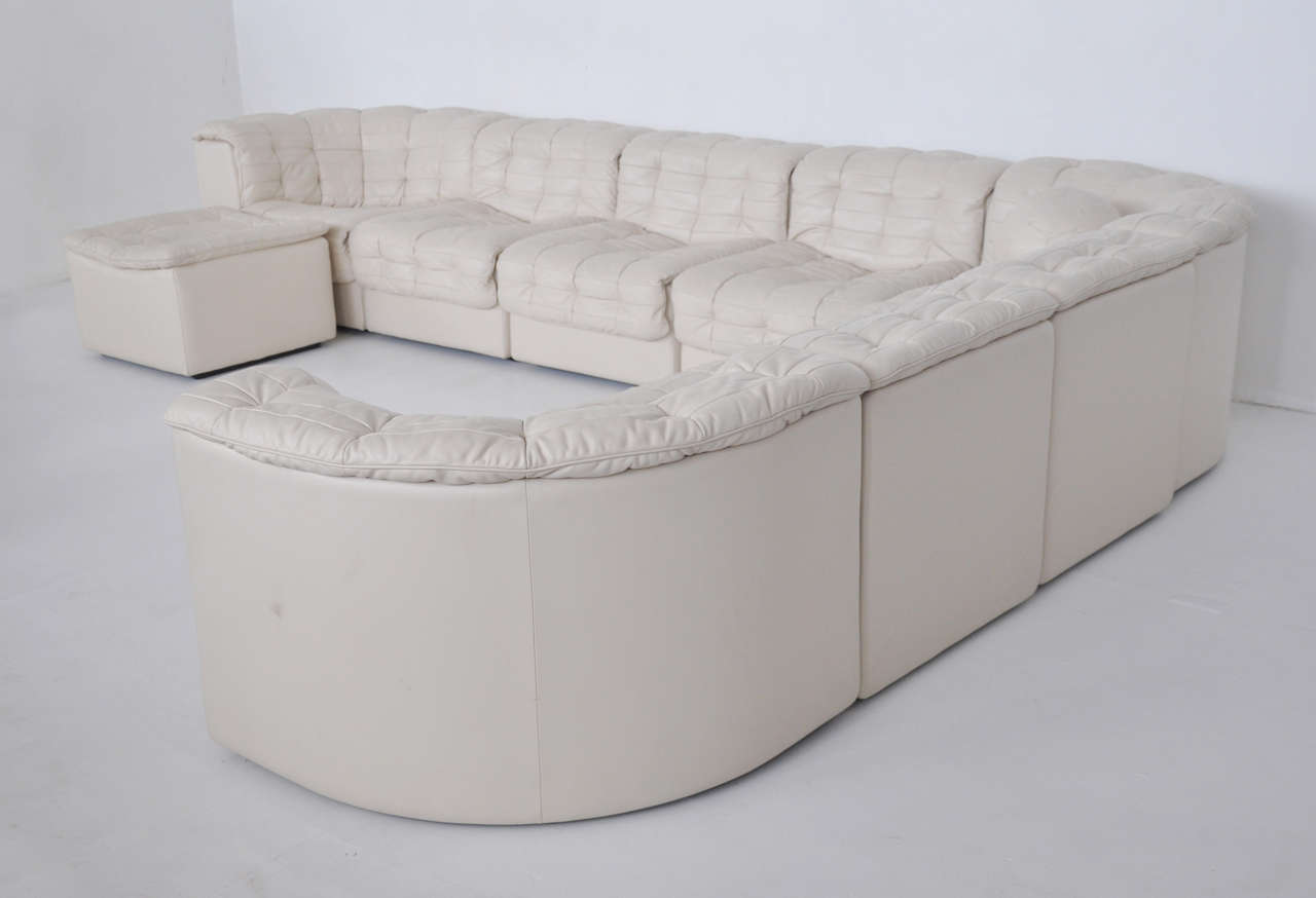 sofa ball stopper funky daybed sofas de sede white leather sectional at 1stdibs