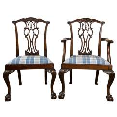 Chippendale Dining Chair Ergonomic Vs Office Set Of Eight Chairs With Ball And Claw Feet At For Sale