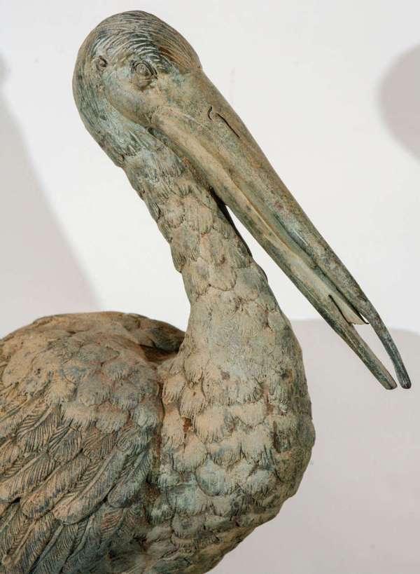 Vintage Metal Pelican Sculpture 1stdibs